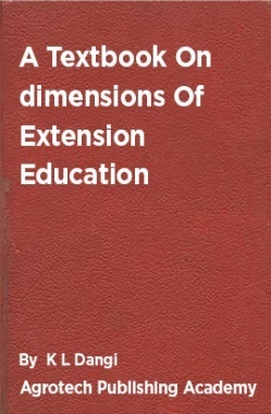 A Textbook On Dimensions Of Extension Education