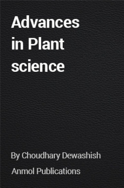 Advances in Plant science