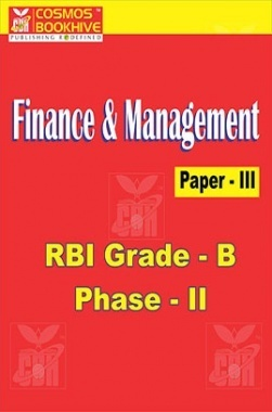 Finance And Management Paper-III RBI Grade B (Phase-II)