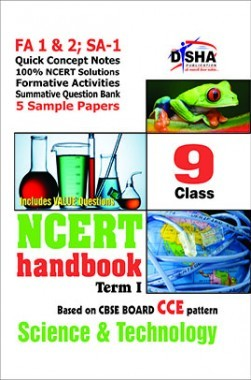 NCERT Handbook Term 1 Science Class 9 (NCERT Solutions + FA activities + SA Practice Questions & 5 Sample Papers)