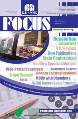 e-Focus January 2013 by ICSI