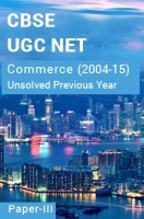 CBSE UGC NET Unsolved Previous Year Question Papers Commerce Paper-III (2004-15)