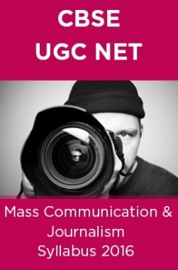 CBSE NET Mass Communication and Journalism Syllabus 2016