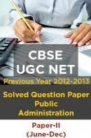 CBSE UGC NET Previous Year 2012-13 Solved Question Public Administration Paper-II(June-Dec)