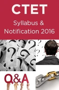 CTET Syllabus 2016
