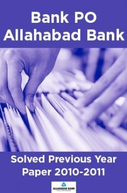 Bank PO Allahabad Bank Solved Previous Year Paper 2010-2011