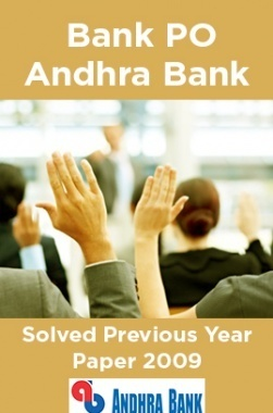 Bank PO Andhra Bank Solved Previous Year Paper 2009