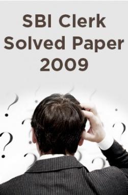 SBI Clerk Solved Paper 2009