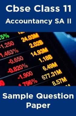 Cbse Class 11 Accountancy SA II Sample Question Paper