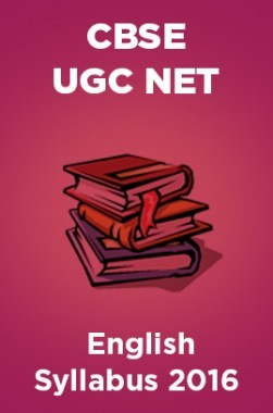 CBSE UGC NET English Syllabus 2016
