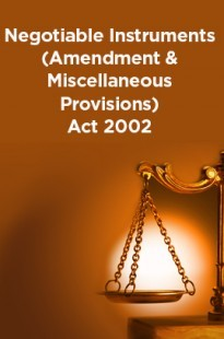 Negotiable Instruments (Amendment and Miscellaneous Provisions) Act 2002