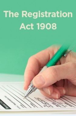 The Registration Act 1908