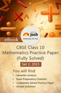 CBSE Class 10th Solved Mathematics Practice Paper 2015 Set-I (Fully Solved)
