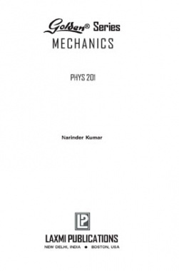 Golden Series Mechanics Phys 201 By Narinder Kumar
