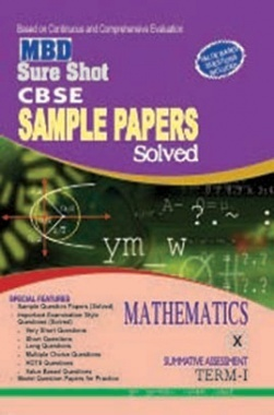 MBD Sure Shot CBSE Sample Papers Solved Mathematics Class X