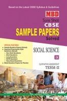 MBD Sample Paper Social Science 9 Term 2 CBSE (English Medium)