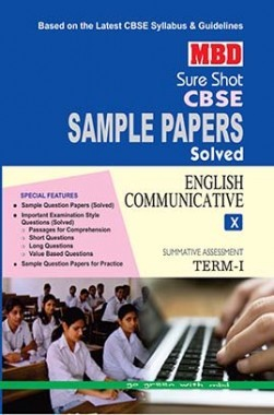MBD Sure Shot CBSE Sample Papers Solved Class 10 English Communicative (Term-I) 2016
