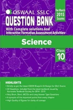 Oswaal SSLC Question Bank With Complete Solutions For Class 10th Science