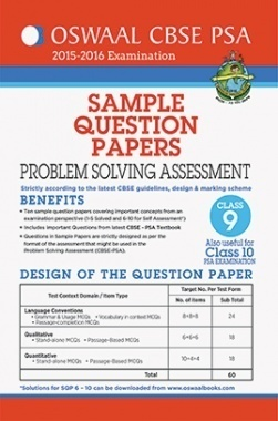 Oswaal CBSE (PSA) Sample Question Papers For Class 9 Problem Solving Assessment