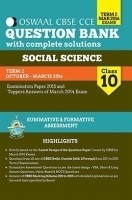Oswaal CBSE CCE Question Bank With Complete Solutions For Class 10 Term II (Oct-Mar 2016 ) Social Science