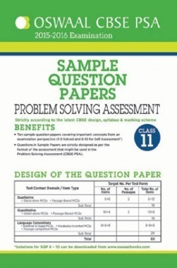 Oswaal CBSE Sample Question Papers For Class 11 PSA (Problem Solving Assessment) March 2016