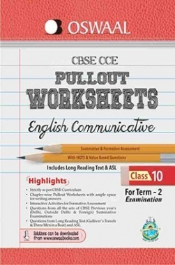 Oswaal CBSE CCE Pullout Worksheets for Class 10 (Term-2) English Communicative