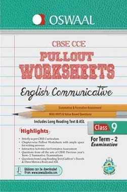 Oswaal CBSE CCE Pullout Worksheets for Class 9 (Term-2) English Communicative