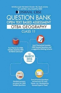 Oswaal CBSE CCE Question Bank With Complete Solutions(OTBA) For Class11 Geography