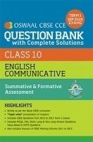 Oswaal CBSE CCE Question Bank With Complete Solutions For Class 10 Term I (April to Sep 2016) English Communicative