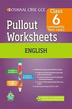 Oswaal CBSE CCE Pullout Worksheets English For Class 6 (Term 1 And 2)
