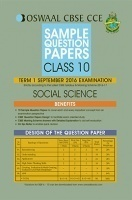 Oswaal CBSE CCE Sample Question Papers For Class 10 Term I (April to September 2016) Social Science