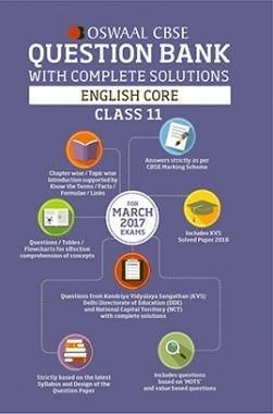 Oswaal CBSE Question Bank With Complete Solutions for Class 11 English Core (For 2017 Exams)