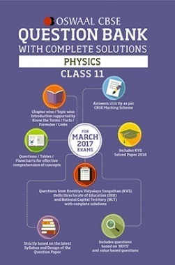 Oswaal CBSE Question Bank With Complete Solutions for Class 11 Physics (For 2017 Exams)