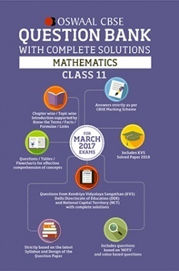 Oswaal CBSE Question Bank With Complete Solutions for Class 11 Mathematics (For 2017 Exams)
