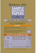 Oswaal CBSE Sample Question Papers For Class 12 Accountancy (For