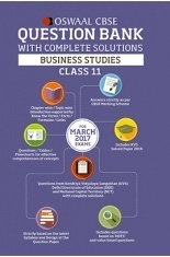Oswaal CBSE Question Bank With Complete Solutions for Class 11 Business Studies (For 2017 Exams)