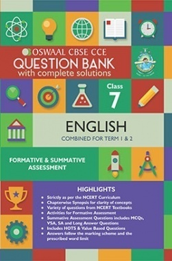 Oswaal CBSE CCE Question Bank With Complete Solutions For Class 7 English (Term 1 And 2)