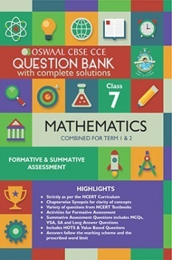 Oswaal CBSE CCE Question Bank With Complete Solutions For Class 7 Mathematics (Term 1 And 2)