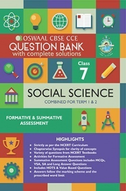 Oswaal CBSE CCE Question Bank With Complete Solutions For Class 7 Social Science (Term 1 And 2)