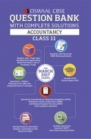 Oswaal CBSE Question Bank With Complete Solutions For Class 11 Accountancy (For 2017 Exams)