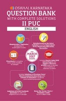 Oswaal Karnataka II PUC Question Bank With Complete Solutions For English For March 2017 Exams