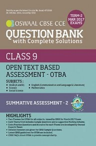 Oswaal CBSE CCE Question Bank Class 9 Term-II Open Text Based Assessment-OTBA All Subjects (March 2017 Exams)