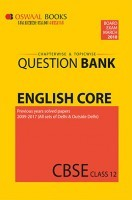 Oswaal CBSE Chapterwise and Topicwise Question Bank For Class 12 English Core (For March 2018 Exam)
