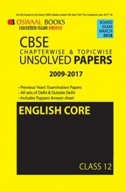 Oswaal Unsolved Paper Question Bank Class 12 English Core (March 2018 Exam)