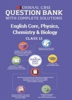 Oswaal CBSE Question Bank with Complete Solutions of English Core, Physics, Chemistry & Biology For Class 11 For 2017 Exams)