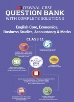 Oswaal CBSE Question Bank with Complete Solutions of English Core, Economics, Business Studies, Accountancy & Maths For Class 11 (For 2017 Exams)