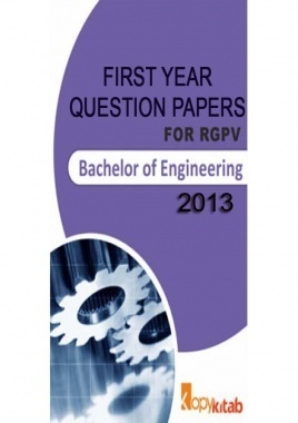Question Papers for First Year Engineering 2013