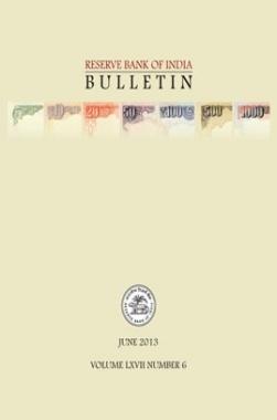 Reserve Bank of India Bulletin June 2013 Volume LXVII Number 6