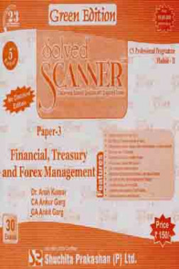 Solved Scanner CS Professional Programme Financial, Treasury and Forex Management Paper 3 Dec 2013