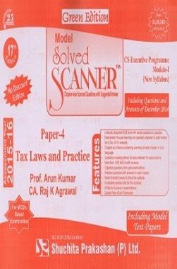 Solved Scanner CSEP Module-I Tax Laws & Practice Paper 4 Dec 2014